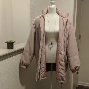 Rose Suede Coat